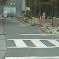 写真: 地震発生直後の水城高校。