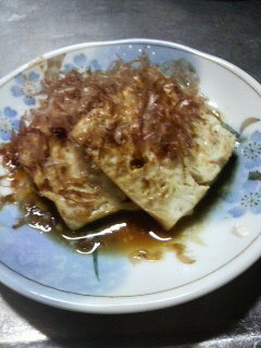 豆腐の醤油バター(マーガリ...