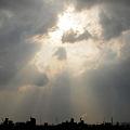 写真: 雷の後の空