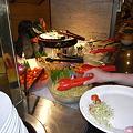 写真: ディナーショーの料理