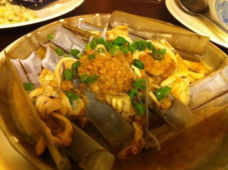 マテ貝の料理