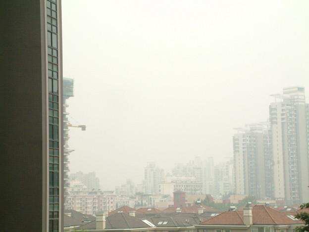 上海の空?