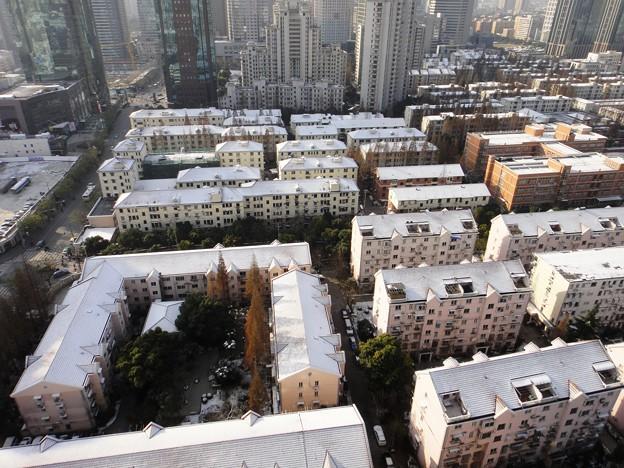 12月16日 上海虹橋地区 老房子と雪景色