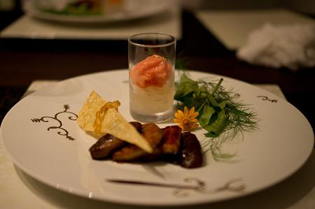 土肥特産椎茸と鰻・フォアグラのミルフィーユ仕立て