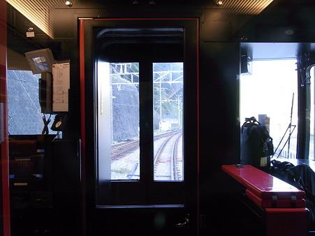 青いロマンスカー 湯本の駅のはじっこ車両