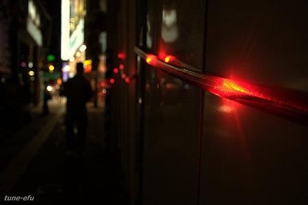 工事現場の夜
