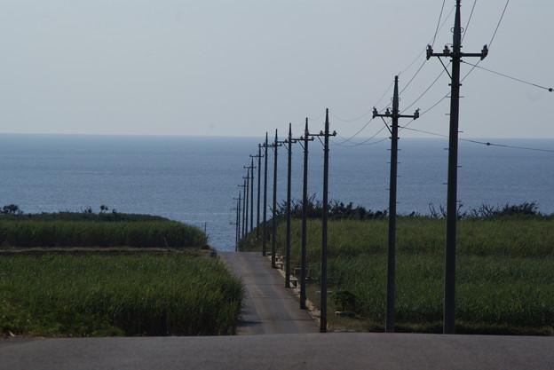 ペムチ浜への道 波照間島のクリスマス