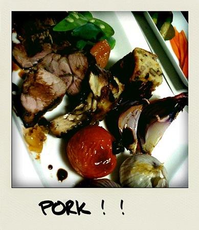 野菜とポークのグリルバルサミコ
