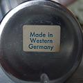 写真: Made in Western Germany