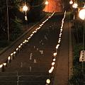 布川神社 大晦日の参道