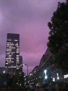 Photos: 空が紫色…