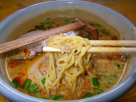 らーめん みそ膳 木田店 味噌タンタンメン 麺アップ