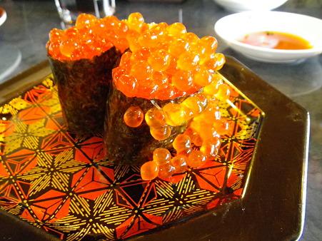 上越の湯 すし市場(北海寿司!?)いくら