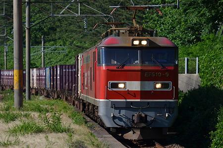 桑川駅 EF510通過