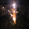 Photos: 庭で花火