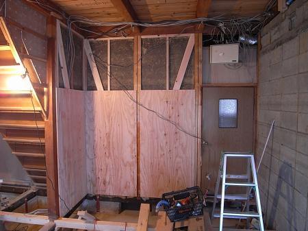 キッチン壁補強