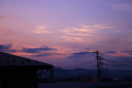 8月29日の夕焼け