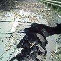 写真: 台風12・15号による道路の陥没3 #十津川