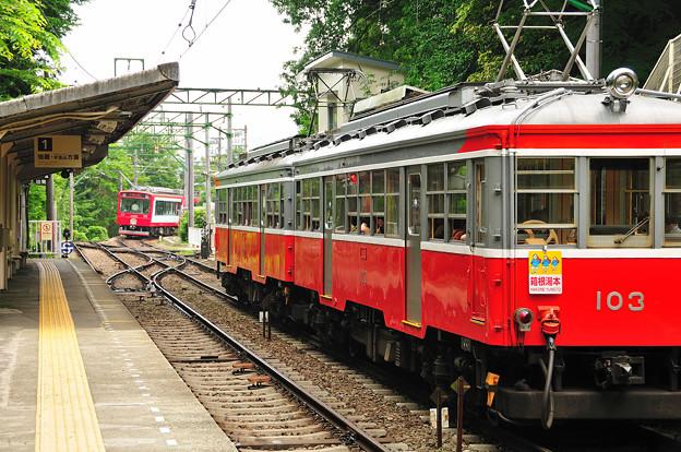 写真: 箱根登山鉄道鉄道 大平台駅のスイッチバック
