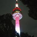 ライトアップされたソウルタワー
