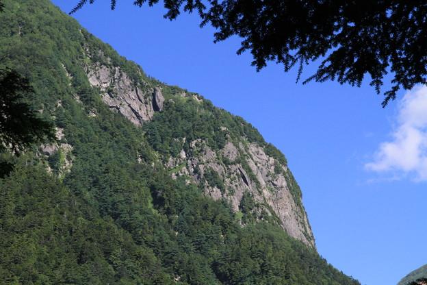 写真: 100721-46蝶ヶ岳登山・屏風岩詳細