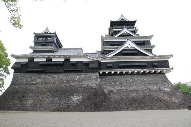 写真: 100518-93九州ロングツーリング・熊本城・大天守と小天守