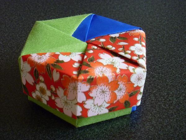 ハート 折り紙 折り紙箱六角形作り方 : photozou.jp