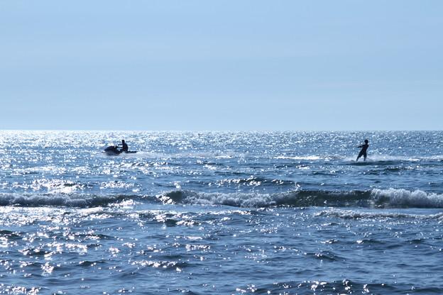 水上スキー  日本海 煌めき^^
