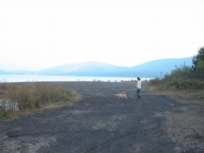 すぐ裏が山中湖