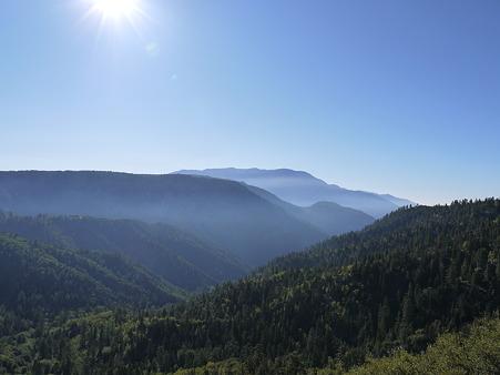Big Bear Lake途中の景色