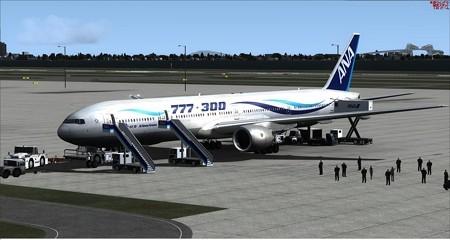 fsx b777-300風塗装